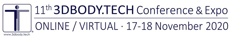 3DBODY.TECH 2020 - 11th International Conference on 3D Body Scanning and Processing Technologies, 21-22 October 2020, Lugano, Switzerland, Organized by Hometrica Consulting - Dr. Nicola D'Apuzzo, Switzerland